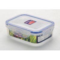 02-1 Пластиковый контейнер для продуктов с зажимом  0.33 л