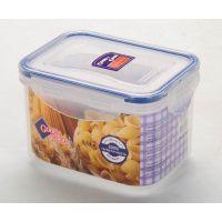 02-2 Пластиковый контейнер для продуктов с зажимом  0.63 л
