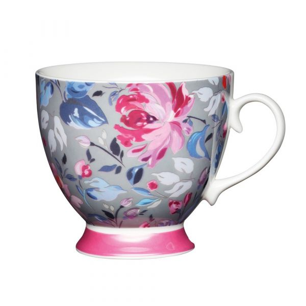 Кружка Grey Floral Footed KITCHEN CRAFT KCMFTD14