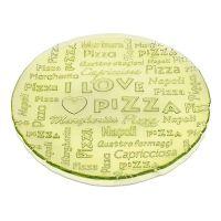 Блюдо IVV EVERYDAY-I LOVE PIZZA 32,5 см жёлтое с надписями 7453.1