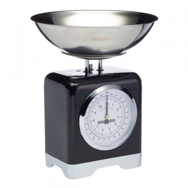 Весы кухонные механические Lovello Retro Black LOVSCALESBLK