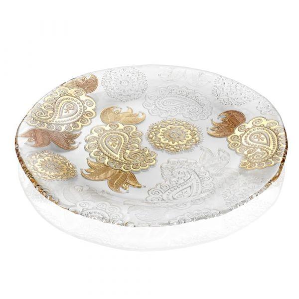 Блюдо IVV Pashmina Gold широкое плоское 8134.3