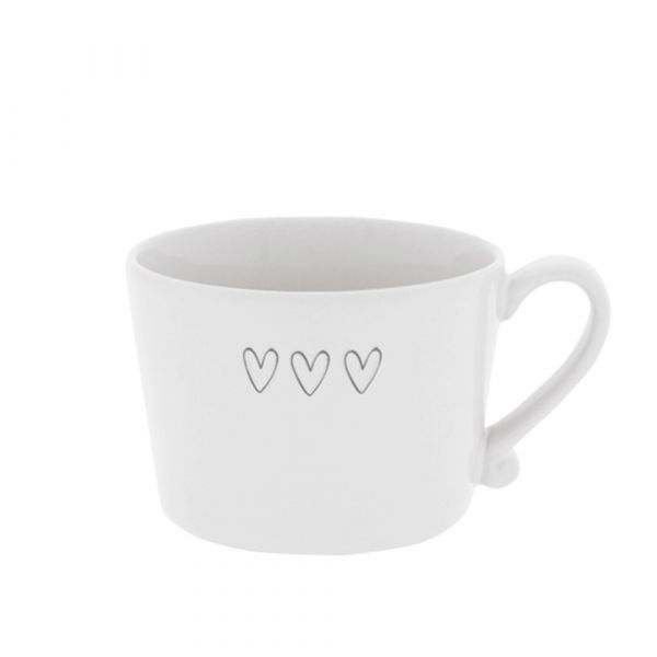 Кружка Bastion Collections White 3 Нearts Grey RJ/CUP 001 GR