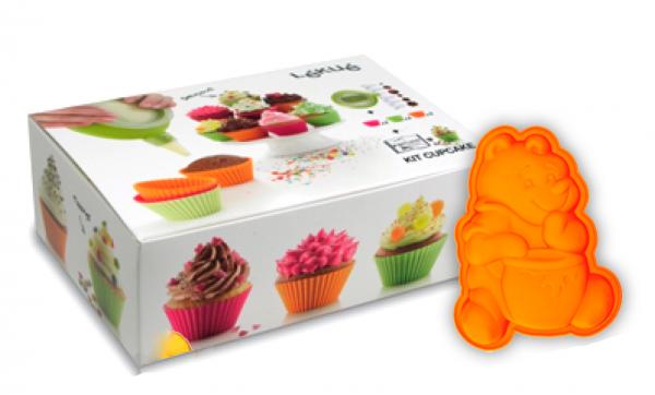 Набор детский Капкейки 6 силиконовых формочек для кексов Lekue, декоратор декомакс 00035/
