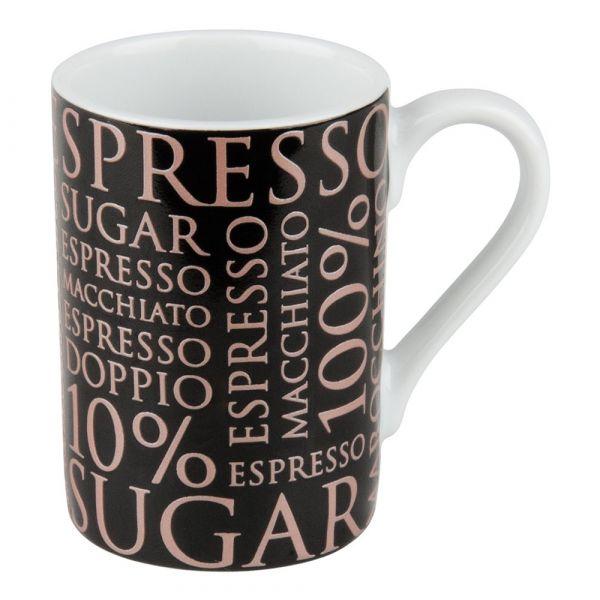 Кружка '100 % Кофе II' черная Koenitz 11 1 353 1810
