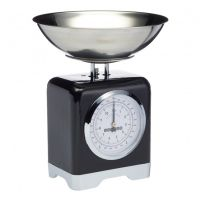 Весы кухонные Kitchen Craft Lovello Retro Black механические LOVSCALESBLK
