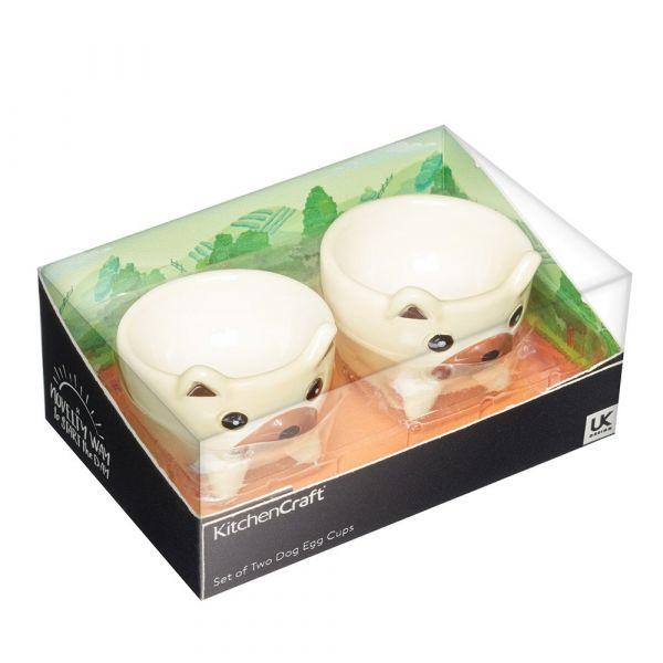 Набор подставка для яиц 2 шт Dogs KITCHEN CRAFT KCEGGDOGPK2