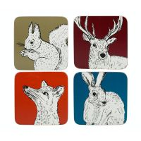 Набор из 4 подставок Animals 10х10 Creative Tops 5234133