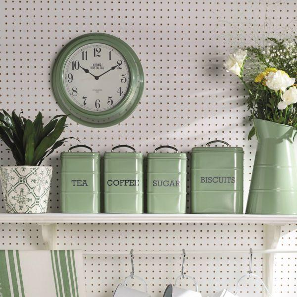 Ёмкость для хранения печенья KITCHEN CRAFT Living Nostalgia цвет зеленый LNBISCGRN