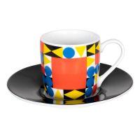 Кофейная пара эспрессо 'Баухаус квадрат' Koenitz 11 5 053 2366