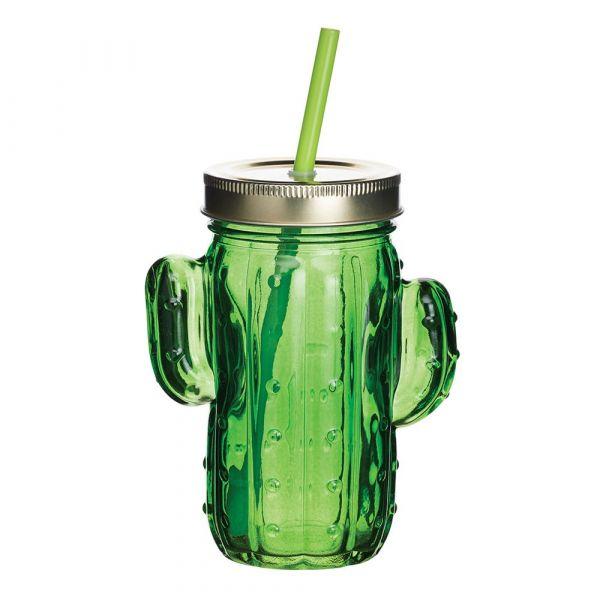 Кружка KITCHEN CRAFT BarCraft с соломинкой цвет зеленый BCJARCACTUS