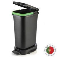 Мусорный бак с педалью BE-ECO 20л Faplana, черный-зеленый 772.23363