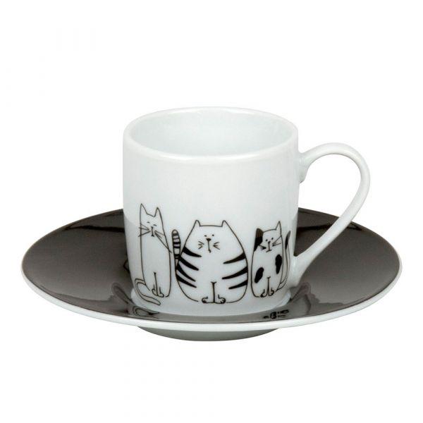 Кофейная пара эспрессо 'Забавные кошки' Koenitz 11 5 053 2075