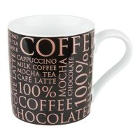 Кружка Konitz «100 % Кофе» 370 мл черная 11 1 618 1810