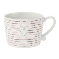 Кружка Bastion Collections White Little Нearts Red Нeart Grey RJ/CUP 016 RED