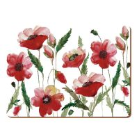 Набор 4 подставки Watercolour Poppy 40x29 Creative Tops 5176715