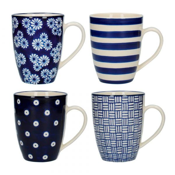 Набор из 4 кружек London Pottery KITCHEN CRAFT JY18LT31