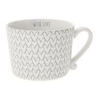 Кружка Bastion Collections White Нeart Pattern Grey RJ/CUP 015 GR
