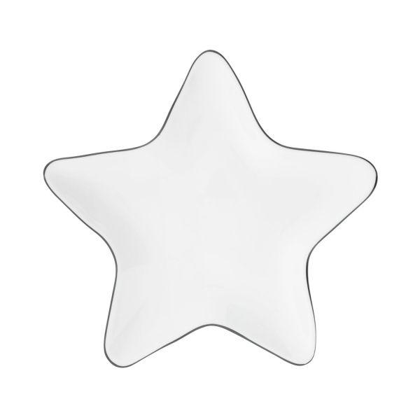 Тарелка Bastion Collections Star Black Edge LI/STAR PL 001 BL