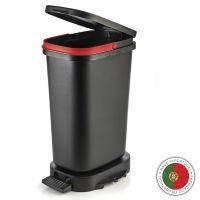 Мусорный бак с педалью BE-ECO 20л Faplana, черный-красный 772.23364