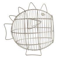 Корзина для фруктов T&G «Fish» Grey 23080