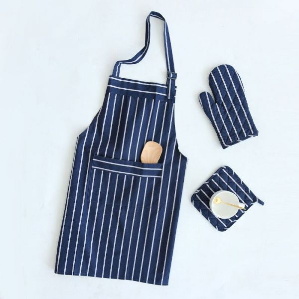 Фартук кухонный BLUE BUTCHER'S STRIPE KITCHEN CRAFT KCBSAPRONBLU