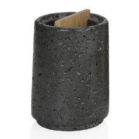 Стакан для зубных щеток Black Stone and Wood ANDREA HOUSE BA16123