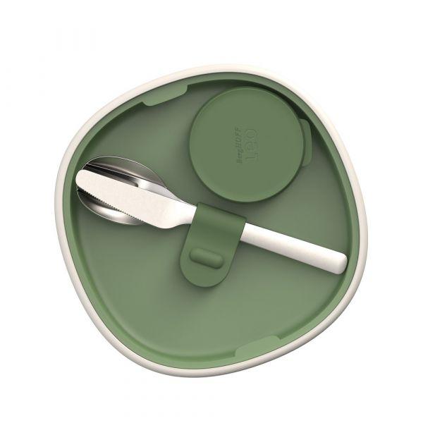 Миска для салата со столовыми приборами BergHOFF Leo 3950221