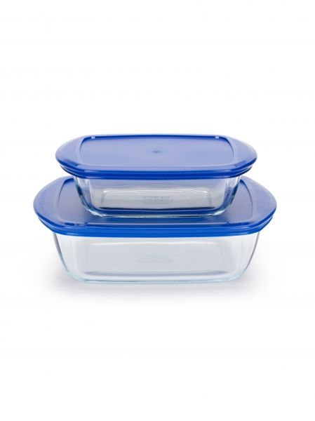 Набор пищевых контейнеров Pyrex Cook&Store BERRIES 1,1+2,5 л прямоугольные 913S093/7045