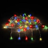 Электрогирлянда NOT USE Занавес 156 разноцветных LED-ламп 12 нитей 15x15 м LG55076