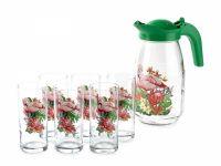Набор для воды MDECOR Фламинго в тропиках 7 предметов MDT15965