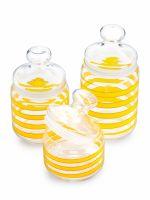 Набор банок для продуктов LUMINARC СПАЙРАЛ 3 шт 500 мл, 750 мл, 1 л цвет желтый Q0398