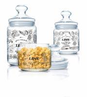 Набор банок для продуктов ЛАВ ПАСТА 3шт (500 мл, 750 мл, 1л) Luminarc Q4111