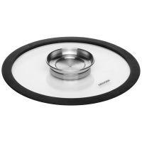 Стеклянная NADOBA NATA крышка с силиконовым ободом 24 см 751513