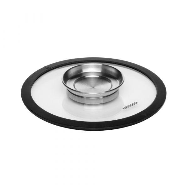 Стеклянная 20 см крышка с силиконовым ободом NADOBA NATA 751515