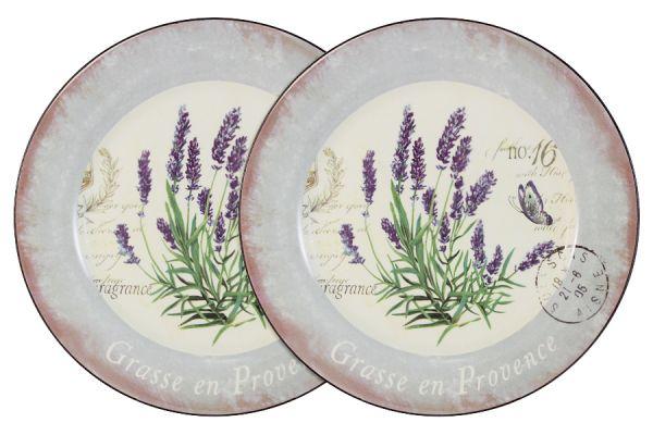 Набор обеденных тарелок Anna Lafarg LF Ceramics «Лаванда» 2 шт AL-120E2257-L-LF