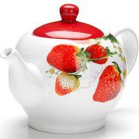 """Заварной чайник, с крышкой 950 мл """"Клубника"""" Lorain, 26347"""