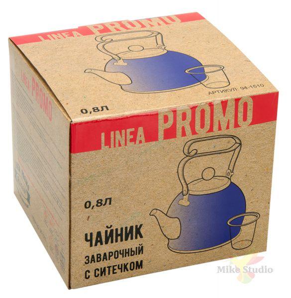 Чайник заварочный 0,8л с ситечком Linea PROMO Regent Inox 94-1510