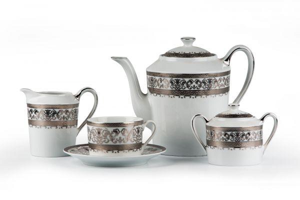 Сервиз чайный La Rose des Sables MIMOSA Prague Platine 15 предметов 539509 1647