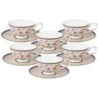 Набор Anna Lafarg Emily Королева Анна 12 предметов: 6 чашек и 6 блюдец AL-M1929_12-E9
