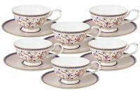 Набор 12 предметов Королева Анна: 6 чашек+ 6 блюдец, AL-M1929_12-E9