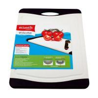 Кухонная доска MICROBAN FLUTTO 37x25 см белая F-M-10