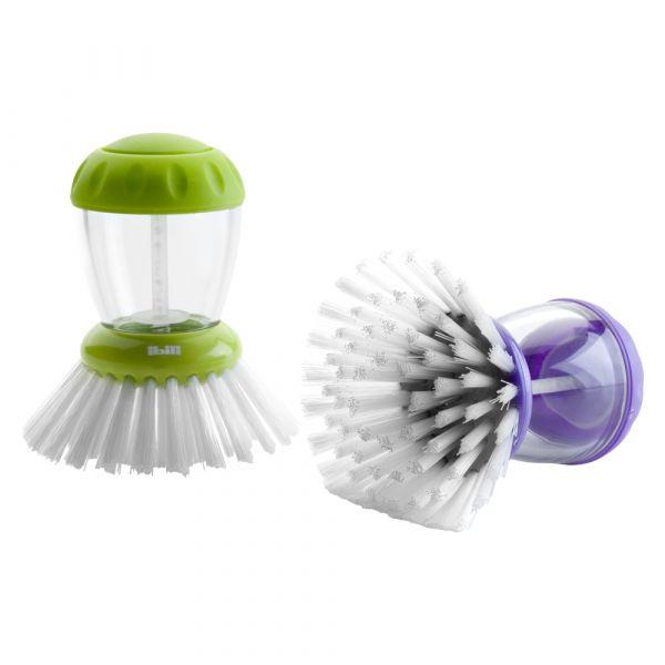 Щетка для мытья посуды с емкостью для моющего средства, серия Eco, IBILI