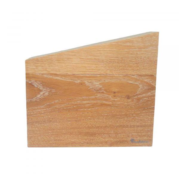 Подставка для ножей Woodinhome двухсторонняя магнитная цвет беленый дуб KS004SOW