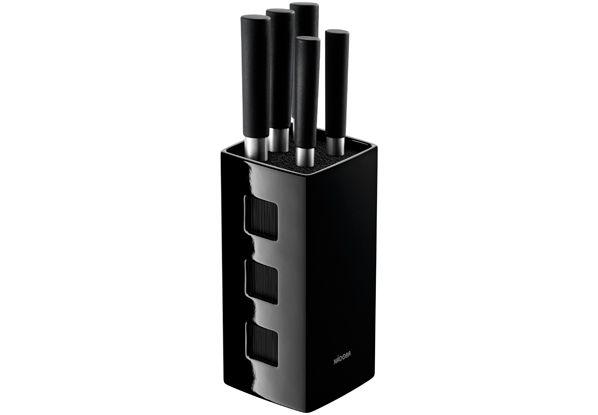 Набор кухонных ножей NADOBA KEIKO 5 шт с универсальным керамическим блоком 722920