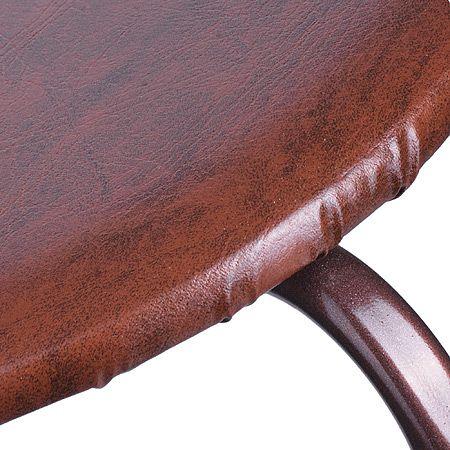 Стул «ТСЭК ЭОНОМ» кожаный на 4 опорах, цвет коричневый Mayer&Boch, 555-3