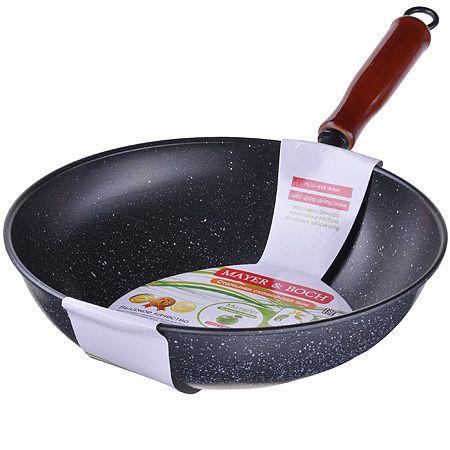 Сковорода ВОК Mayer&Boch 28 см с покрытием из мраморной крошки 3039