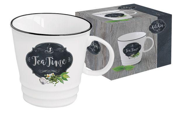 Кружка Easy Life (R2S) Кухня в стиле Ретро рисунок «чай» в подарочной упаковке EL-R1603_KIBT