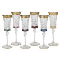 Набор бокалов для шампанского Same Цветная Флоренция 6 шт SM3173/678-AL
