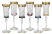 Набор: 6 бокалов для шампанского Цветная Флоренция, SM3173_678-AL